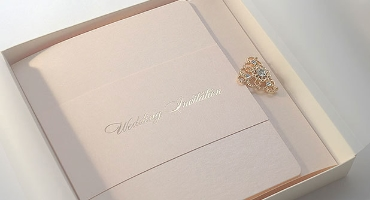 Samples of wedding invitations from Polina Perri