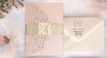 Laser cut wedding invitations from Polina Perri