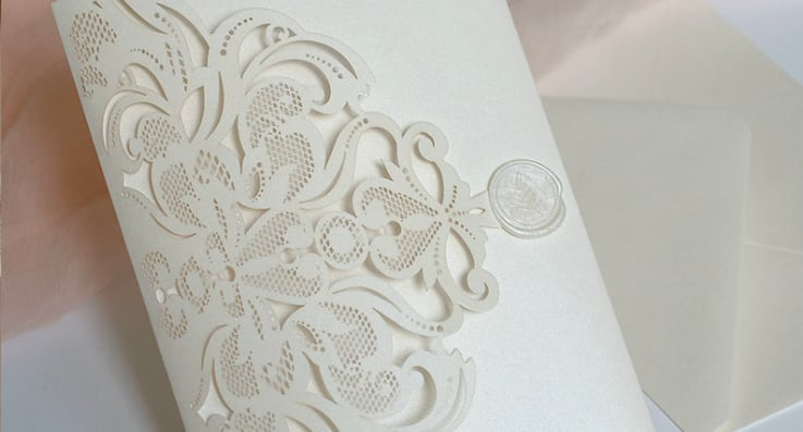 Acrylic wedding invitations from Polina Perri