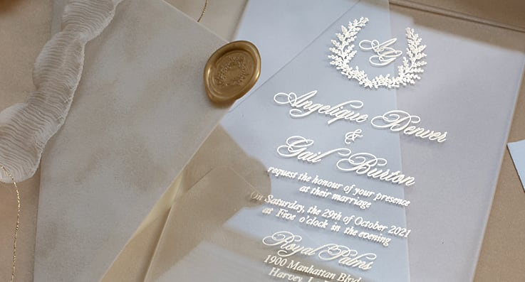 luxury wedding invites